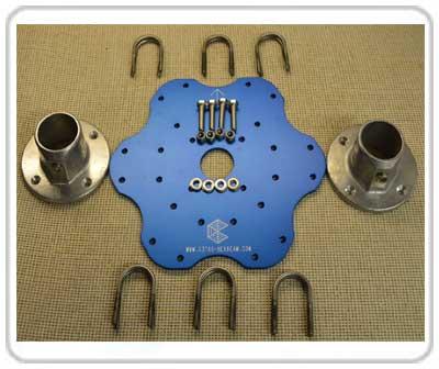 Hexbeam Premium Base Plate Stainless U-Bolts