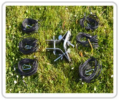 Portable Hexbeam Storm Cords & Bracket